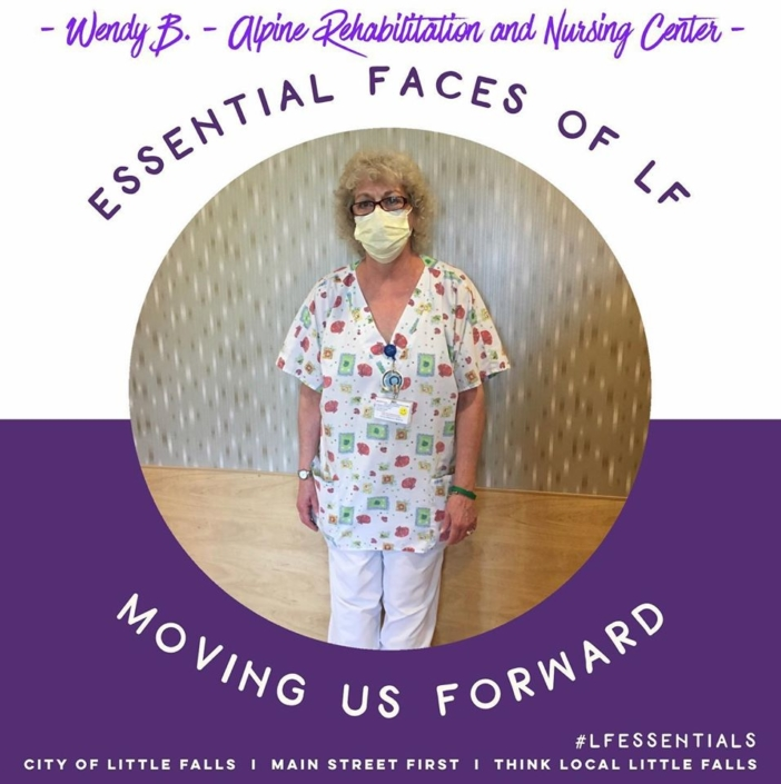 CONGRATS - Wendy B. Alpine Rehabilitation and Nursing Center! (5/22 winner) Essential Faces of LF: Moving us Forward! Thank you!