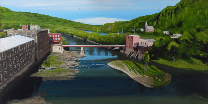 Robert Coppen | Above Canal Place - 24 x 48 - acrylics - $1200