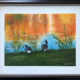 Kathy Canastar | Canada Geese In Fall $175.00 Framed. 11x14 canvas, oils