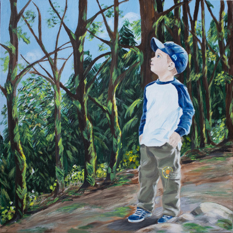 Susan Handy | A Walk in the Woods | Acrylic on Canvas NFS