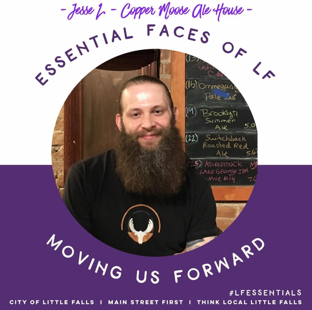 CONGRATS - Jesse L. of Copper Moose Ale House! (5/22 winner) Essential Faces of LF: Moving us Forward! Thank you!