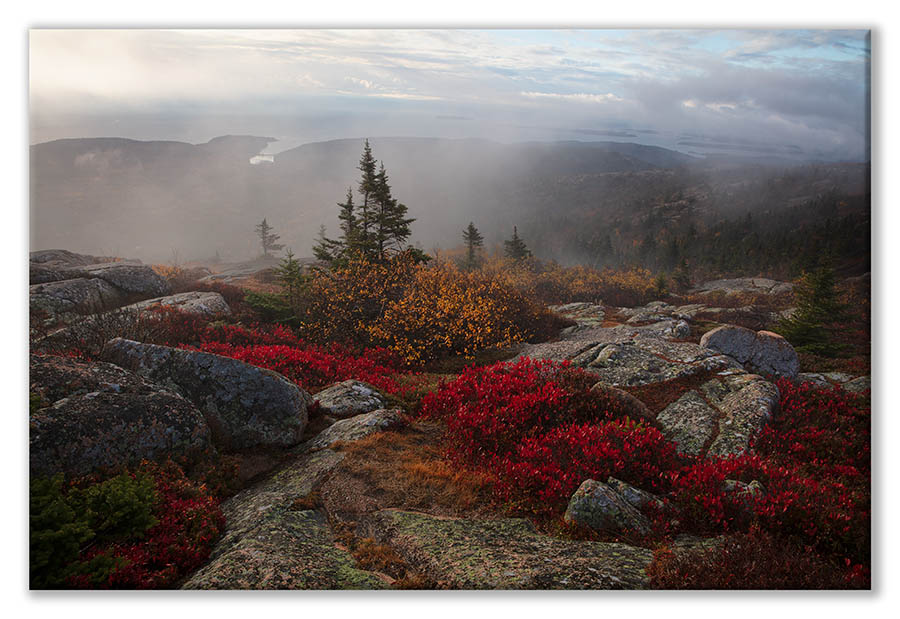 Bart Carrig Cadillac Mountain, Acadia National Park, Maine | Canvas Print 18 x 24 with or without floating frame. $300